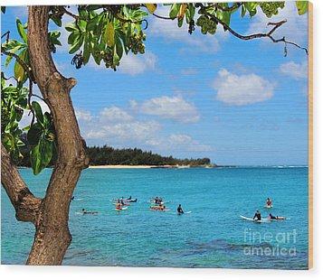 Surfers In Paradise Wood Print by Kristine Merc