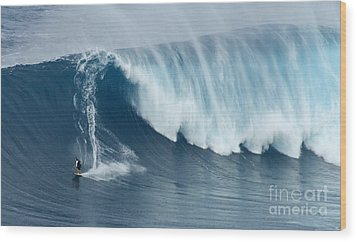 Surfing Jaws 5 Wood Print by Bob Christopher