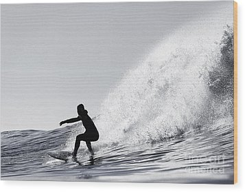Wood Print featuring the photograph Surfing The Avalanche by Paul Topp