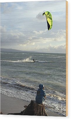 Wood Print featuring the photograph Surfs Up by Mary Lou Chmura