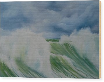 Surfs Up Wood Print by Neil Kinsey Fagan