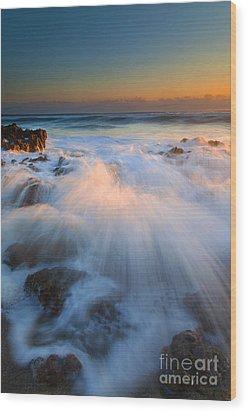 Surge Wood Print by Mike  Dawson