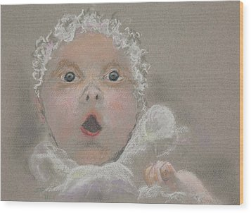 Surprised Baby Wood Print by Jocelyn Paine