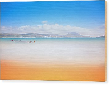 Golden Beach Wood Print
