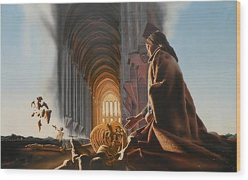 Surreal Cathedral Wood Print by Dave Martsolf