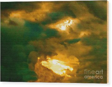 Surreal Sunset Wood Print by Anita Lewis