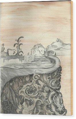 Surreal View Wood Print by Angela Pelfrey