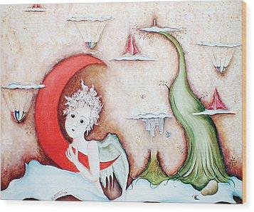 Surrealismo Interior Wood Print by Belen Jauregui