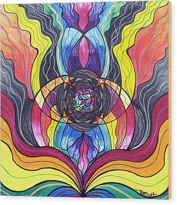 Surrender Wood Print by Teal Eye  Print Store