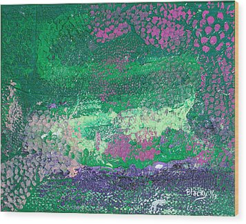 Surrounded By The Garden Wood Print by Donna Blackhall
