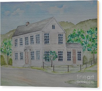 Susan B. Anthony Birthplace Wood Print by Sally Rice