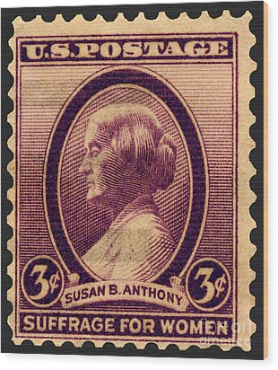 Susan B. Anthony Commemorative Postage Stamp Wood Print