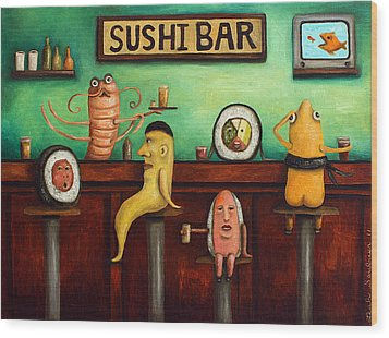 Sushi Bar Improved Image Wood Print