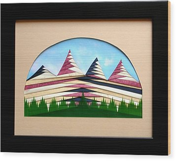 Wood Print featuring the mixed media Sushi by Ron Davidson