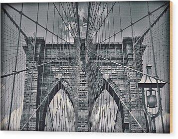 Suspension Wood Print by Kelley King