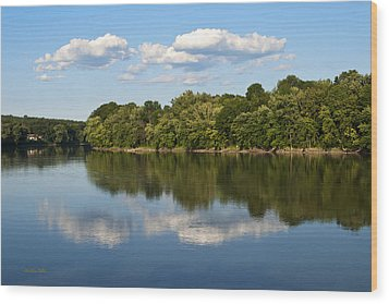 Susquehanna River Wood Print by Christina Rollo