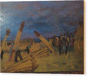 Svetsko Prvenstvo U Secenju Trske Wood Print by Lazar Caran