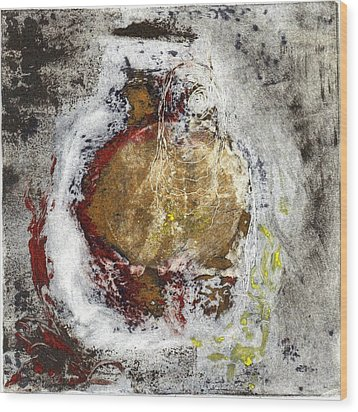 Wood Print featuring the painting Swallowed by Lesley Fletcher