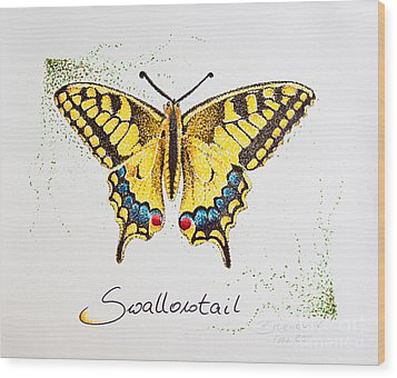 Swallowtail - Butterfly Wood Print by Katharina Filus