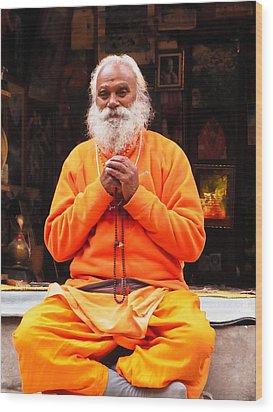 Swami Sundaranand At Tapovan Kutir 4 Wood Print