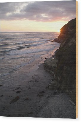 Swami's Sunset Wood Print by Mark Barclay