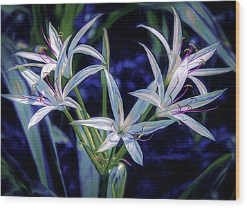 Wood Print featuring the photograph Swamp Lilies by Steven Sparks