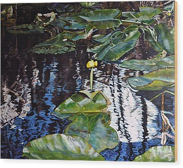 Swamp Lilly Wood Print by Dottie Branchreeves