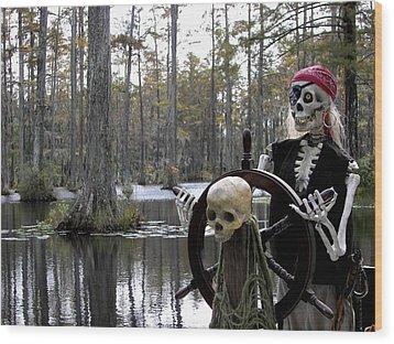 Swamp Pirate Wood Print by Karen Wiles