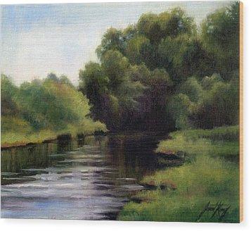 Swan Creek Wood Print by Janet King