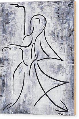 Swan Lake Wood Print by Kamil Swiatek
