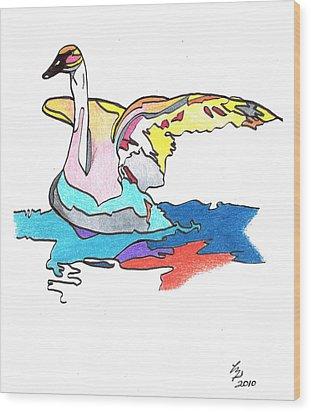 Swan2010 Wood Print