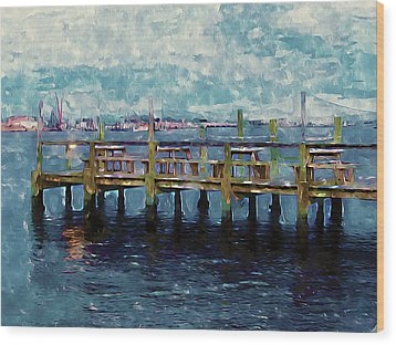 Swansboro Dock 1 Wood Print by Lanjee Chee