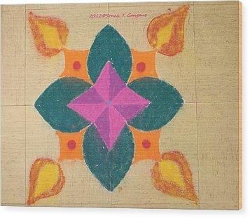 Swarna Jyot Wood Print by Sonali Gangane