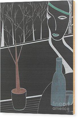 Swedish Cafe Wood Print by Bill OConnor