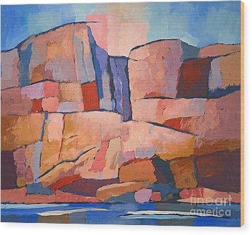 Swedish Cliffs Wood Print by Lutz Baar