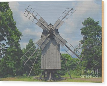 Wood Print featuring the photograph Swedish Old Mill by Sergey Lukashin