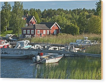 Swedish Summer Wood Print by Nancy De Flon