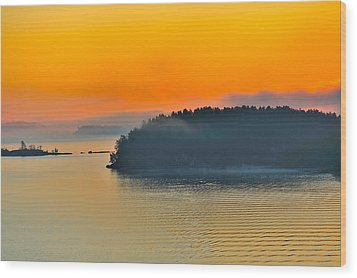 Wood Print featuring the photograph Swedish Sunrise by Marianne Campolongo
