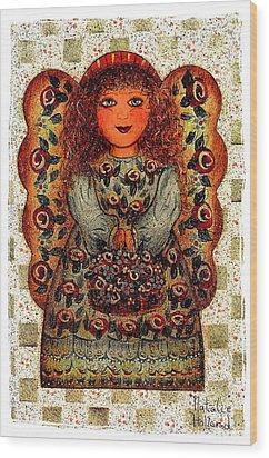 Sweet Angel Wood Print by Natalie Holland
