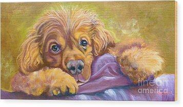Sweet Boy Rescued Wood Print by Susan A Becker
