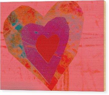 Sweet-candy-heart Wood Print by Dorothy Rafferty