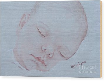 Wood Print featuring the drawing Sweet Dreams by Mary Lynne Powers