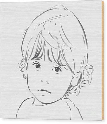 Sweet Girl Wood Print by Olimpia - Hinamatsuri Barbu