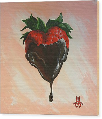 Sweet Heart Wood Print by Marco Antonio Aguilar