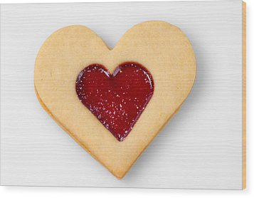 Sweet Heart - Symbol For Love Valentine Relationship Wood Print by Matthias Hauser