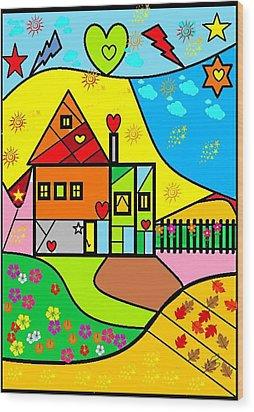 Sweet Home By Nico Bielow Wood Print