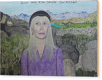 Sweet Lady Of The Canyon. Wood Print by Ken Zabel