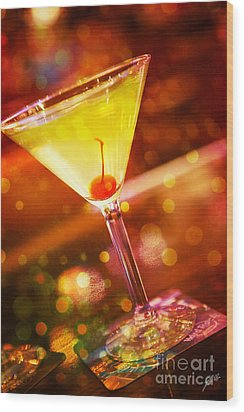 Sweet Martini  Wood Print