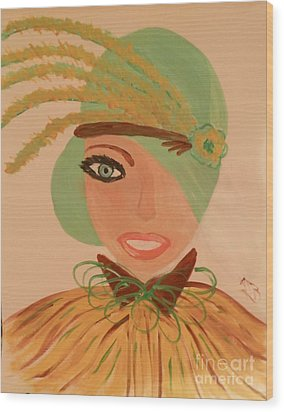 Sweet Mary Of The Sun Wood Print by Marie Bulger