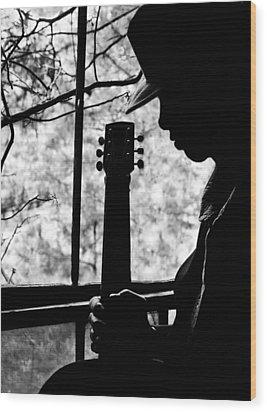 Sweet Music Man Wood Print by EG Kight